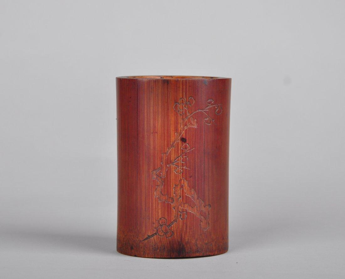 A Bamboo Brush Pot, Qing Dynasty