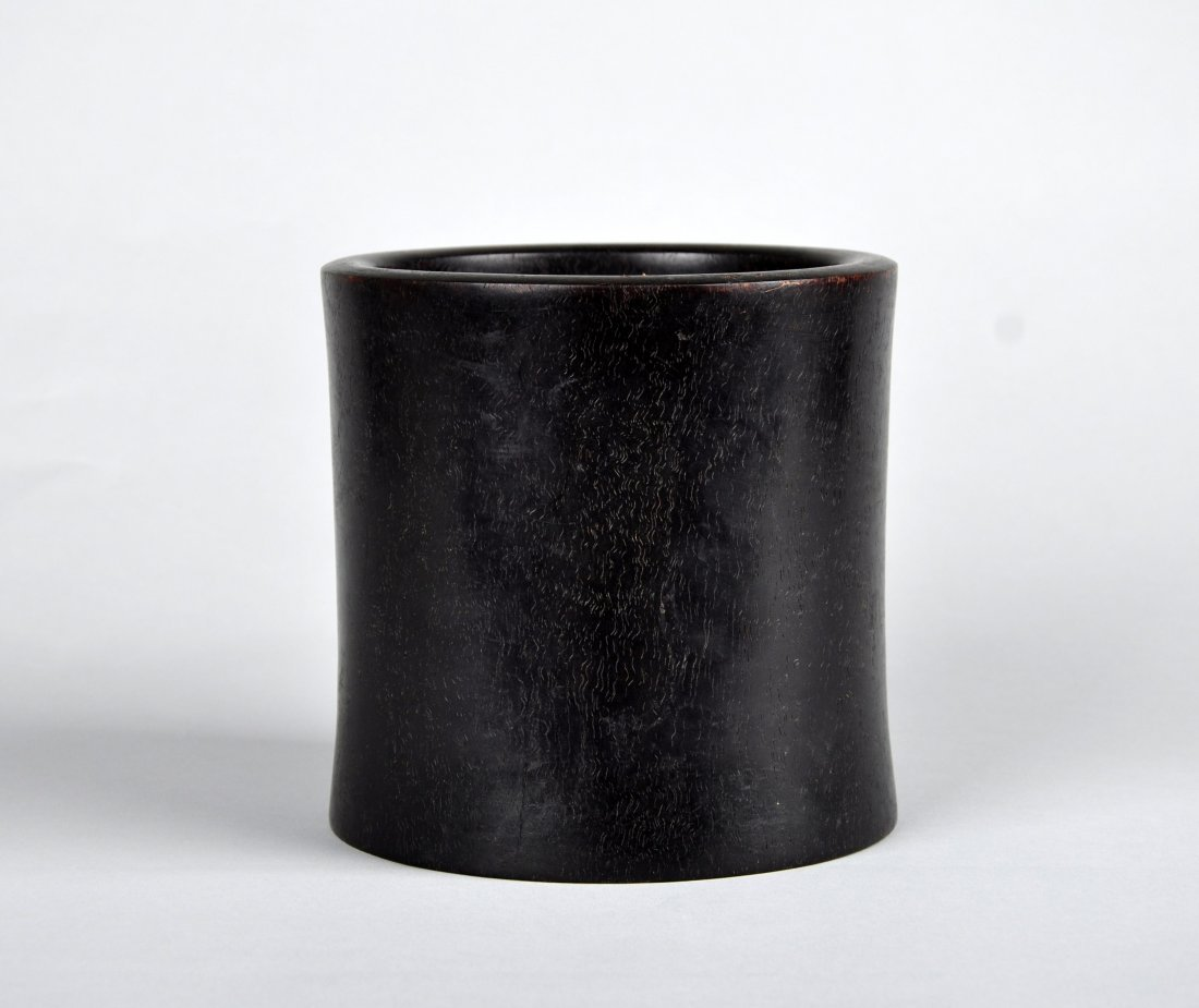 A Zitan Brush Pot, Qing Dynasty