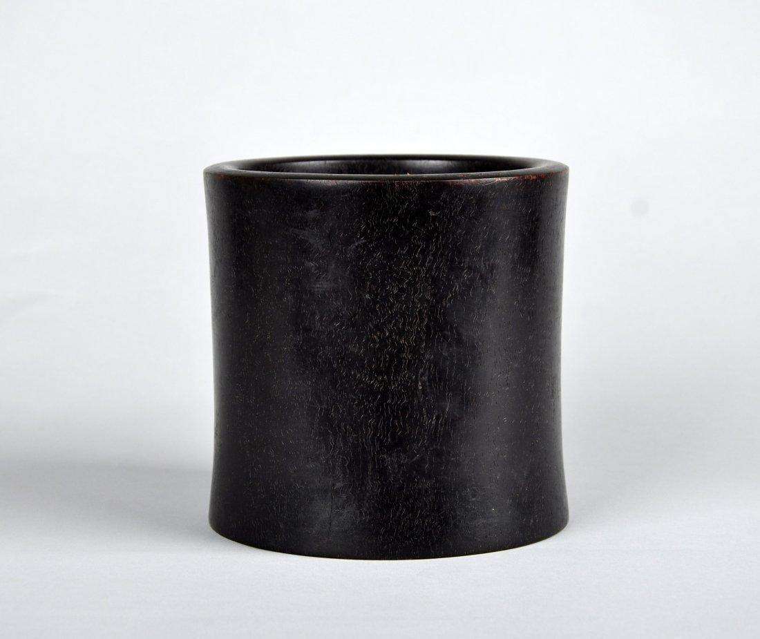 A Zitan Brush Pot, Qing Dynasty