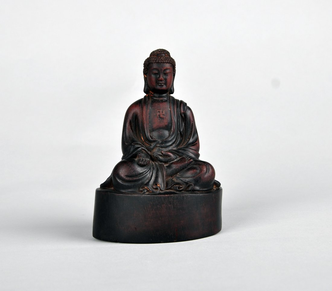 A Zitan Shakyamuni Statue, Qing Dynasty