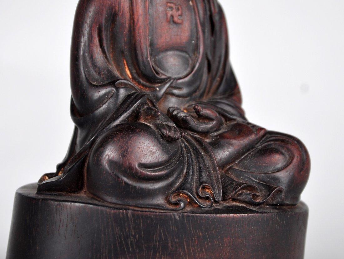 A Zitan Shakyamuni Statue, Qing Dynasty - 2