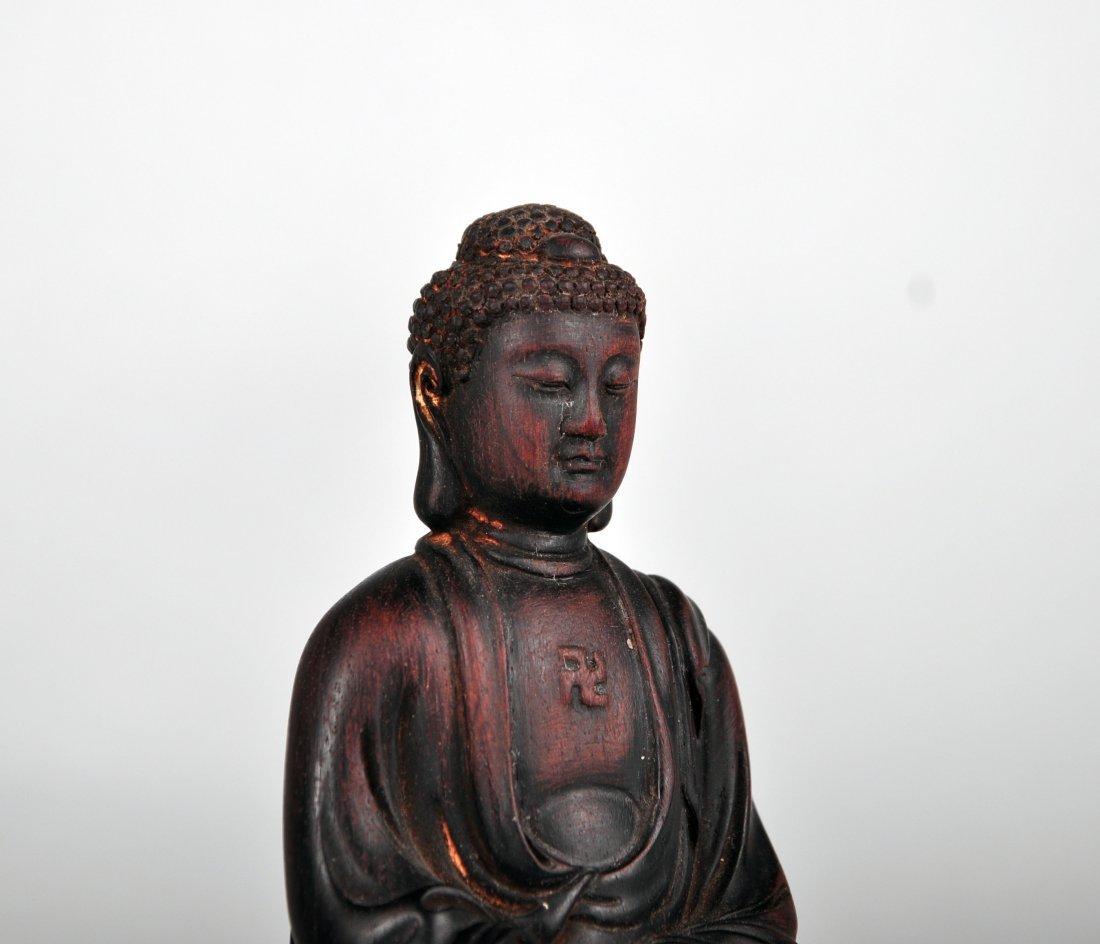 A Zitan Shakyamuni Statue, Qing Dynasty - 3
