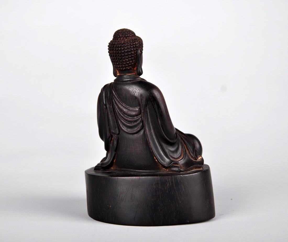 A Zitan Shakyamuni Statue, Qing Dynasty - 4