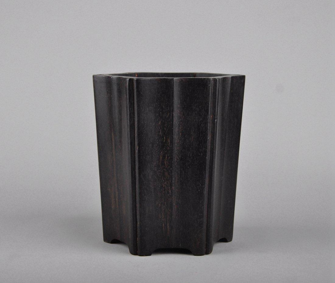 A Zitan Brush Pot