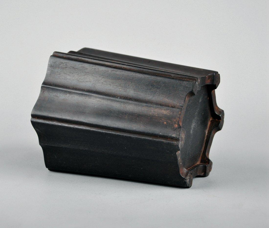 A Zitan Brush Pot - 4