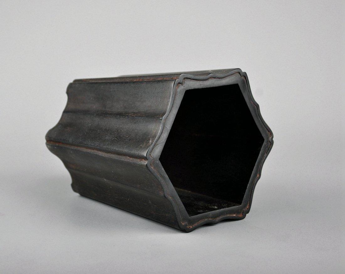 A Zitan Brush Pot - 5