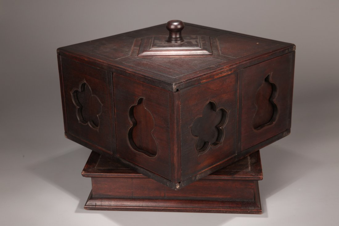 A Zitan Treasure Box, Qing Dynasty