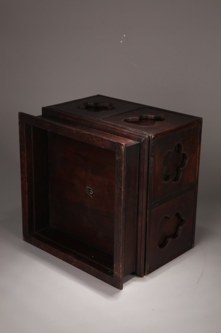 A Zitan Treasure Box, Qing Dynasty - 6