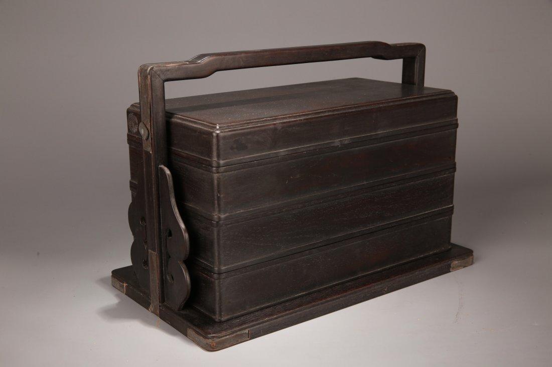 A Zitan Box, Qing Dynasty