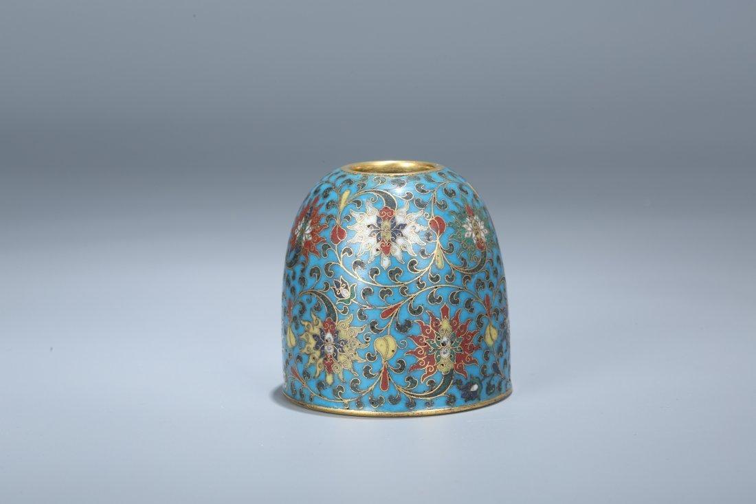 A Cloisonne Enamel Water Pot, Qing Dynasty
