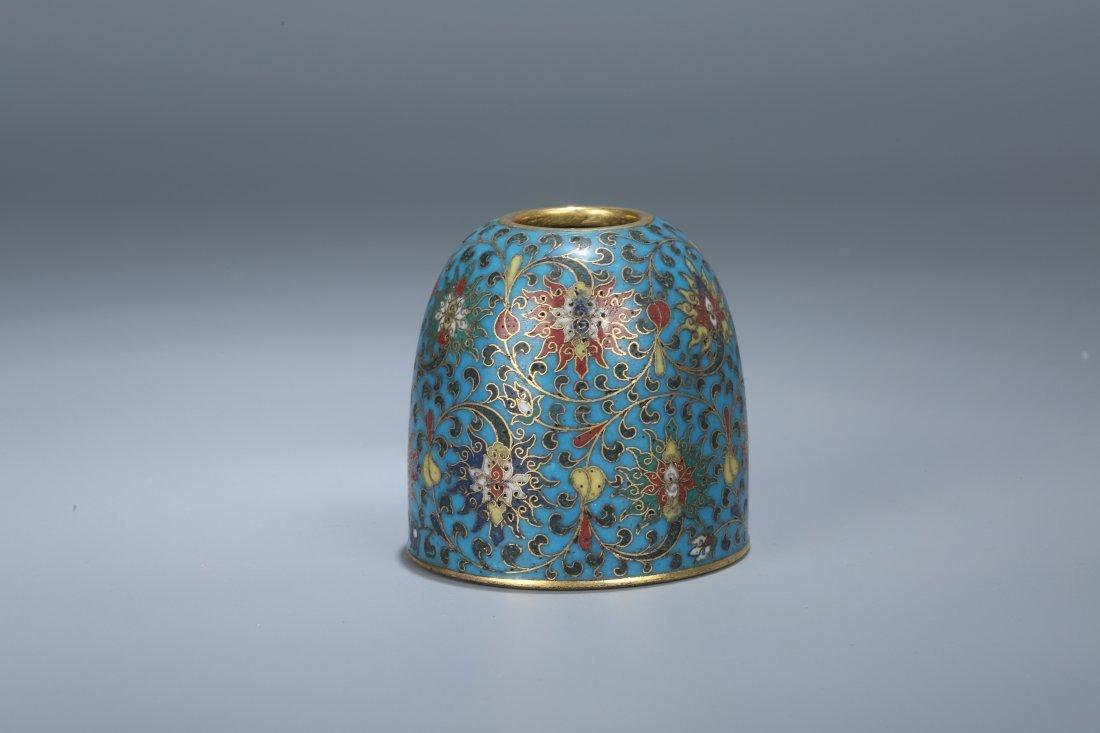 A Cloisonne Enamel Water Pot, Qing Dynasty - 2