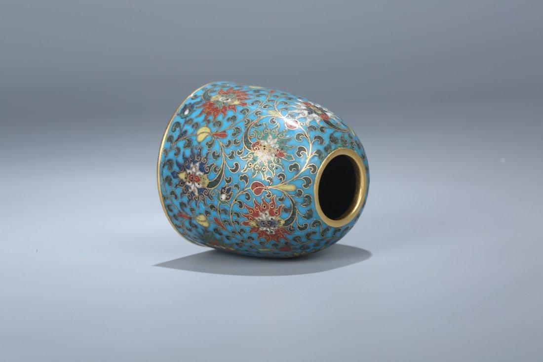 A Cloisonne Enamel Water Pot, Qing Dynasty - 3