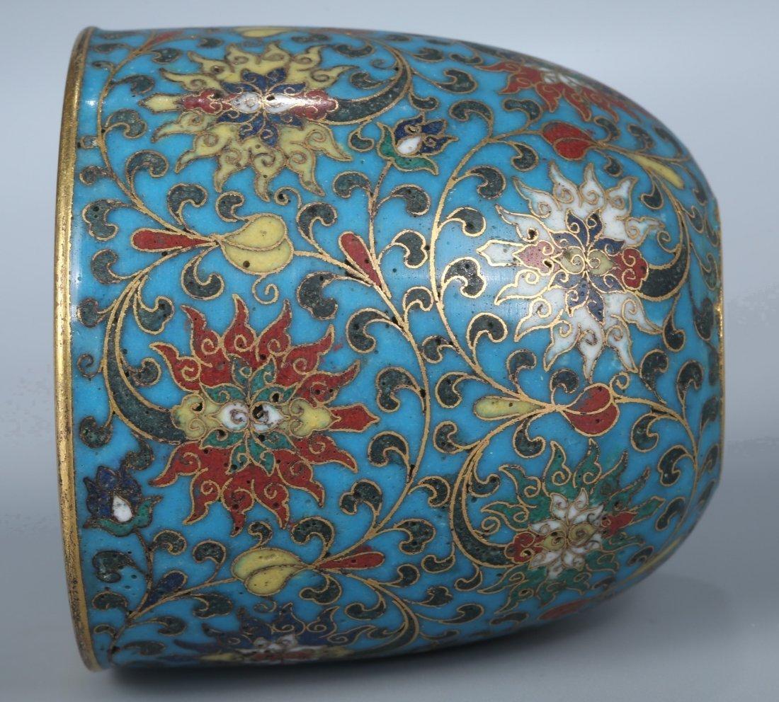 A Cloisonne Enamel Water Pot, Qing Dynasty - 7