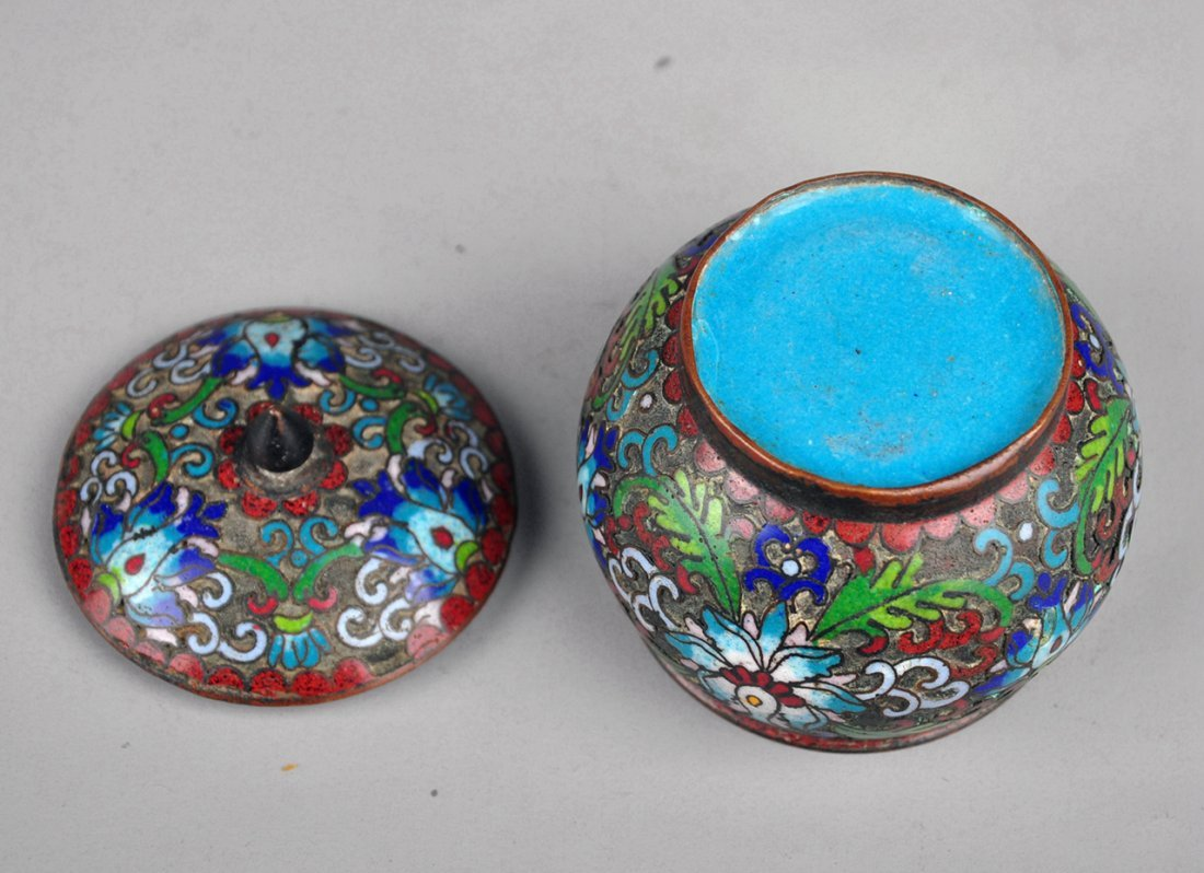 A Cloisonne Enamel Box with Lid, Qing Dynasty