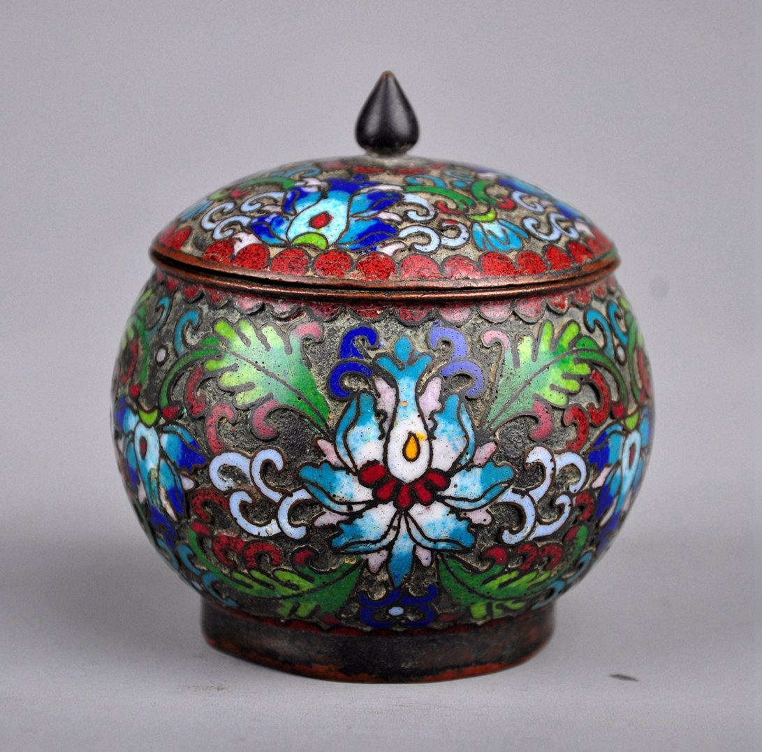 A Cloisonne Enamel Box with Lid, Qing Dynasty - 2