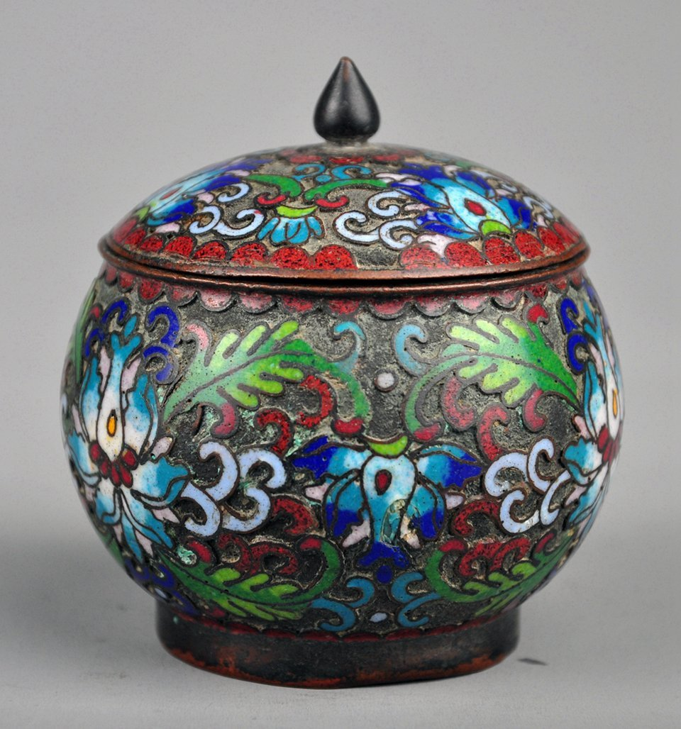 A Cloisonne Enamel Box with Lid, Qing Dynasty - 3