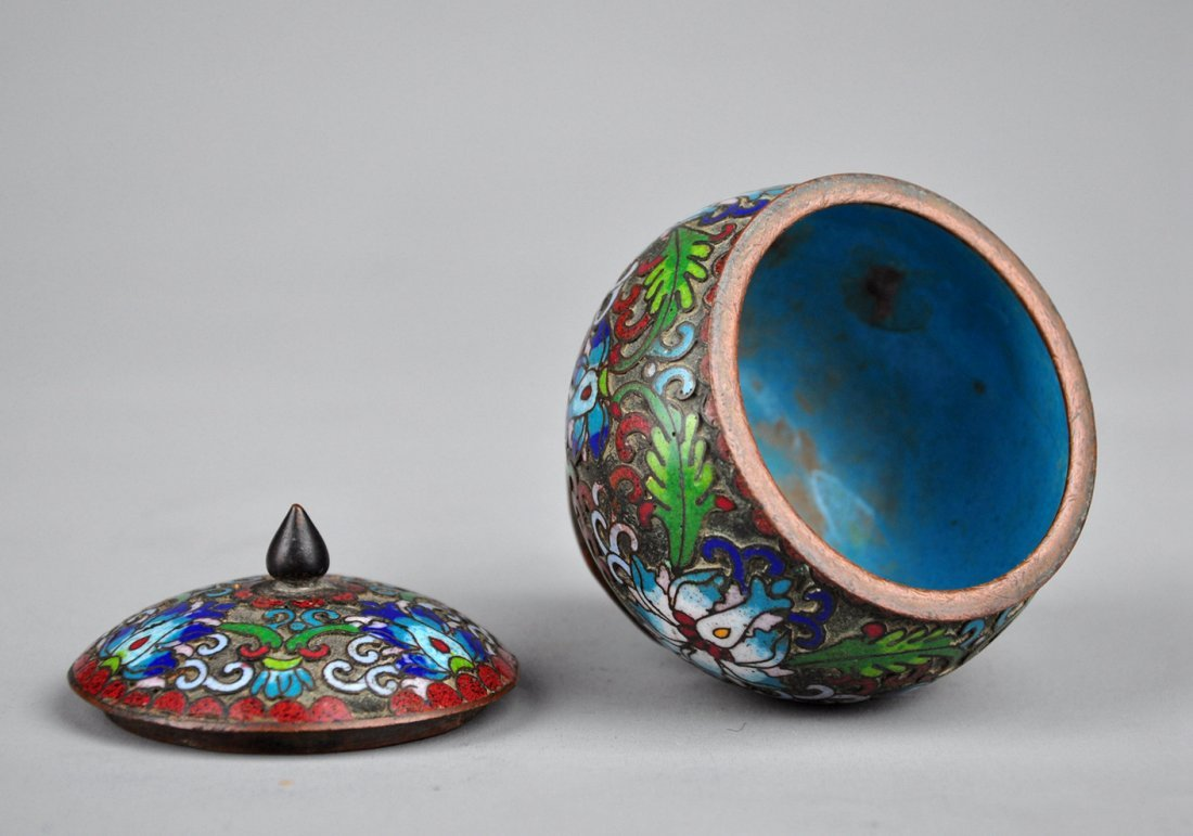 A Cloisonne Enamel Box with Lid, Qing Dynasty - 5