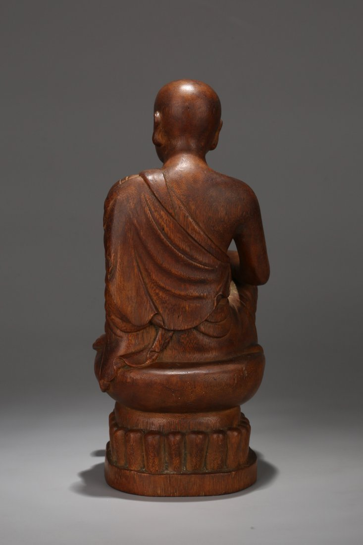 An Aloeswood  Buddha Statue, Qing Dynasty