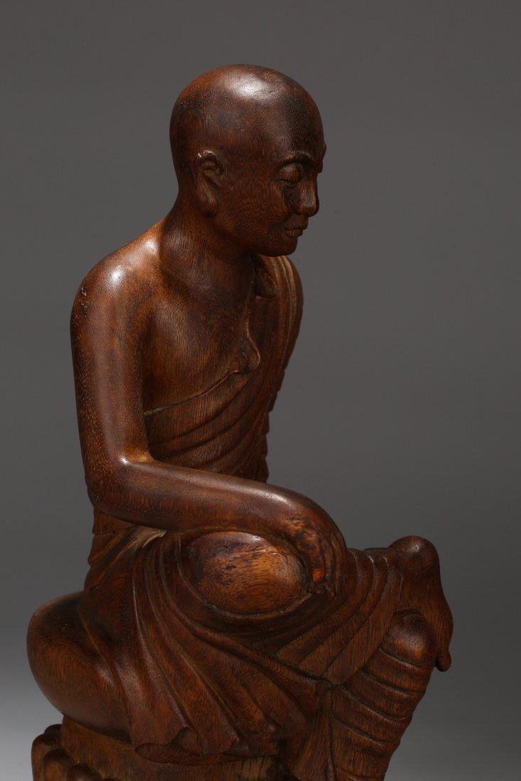 An Aloeswood  Buddha Statue, Qing Dynasty - 7