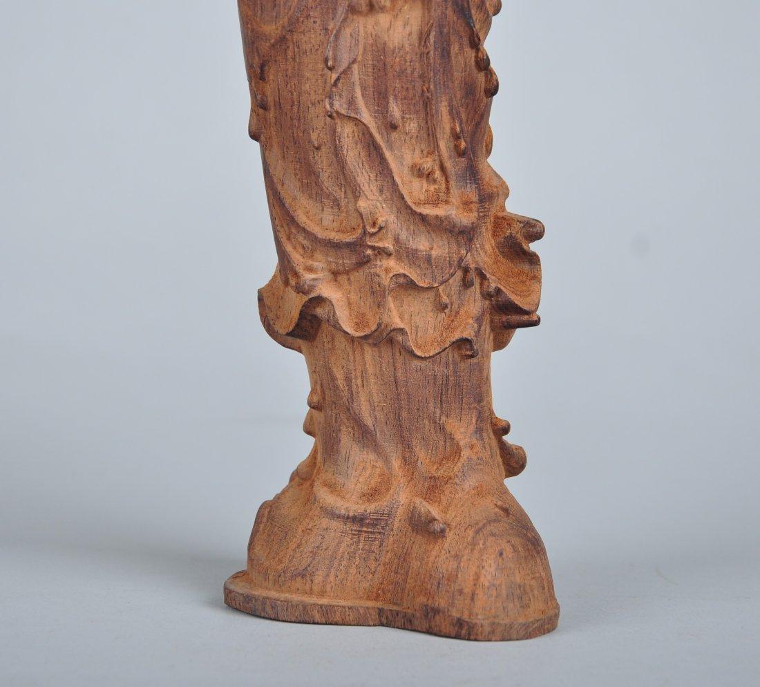 A Sandalwood Guanyin Figure - 2