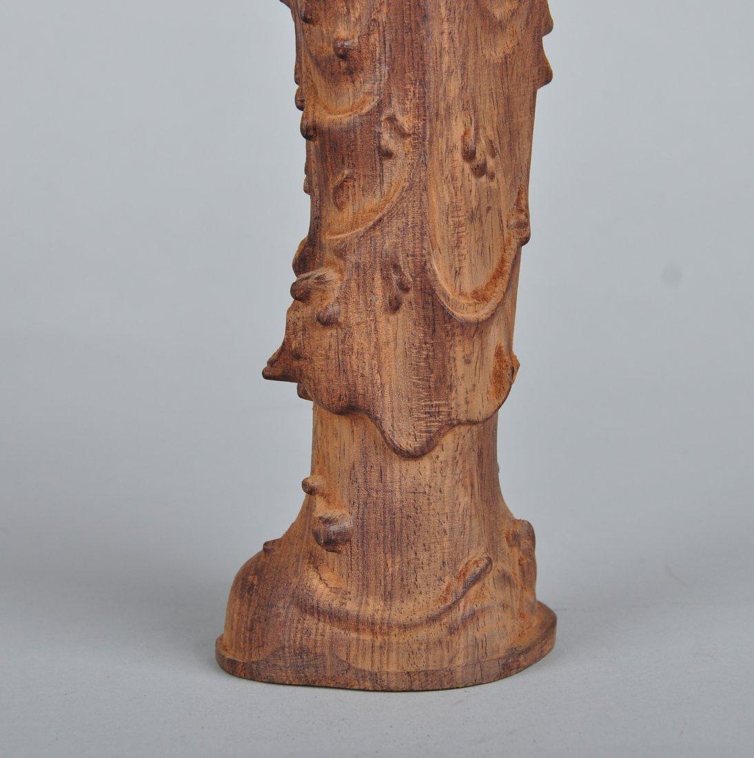 A Sandalwood Guanyin Figure - 4