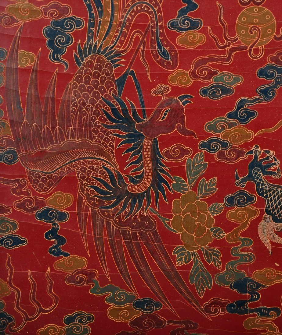 A Red Lacquer Dragon and Phoenix Box, Qing Dynasty - 5