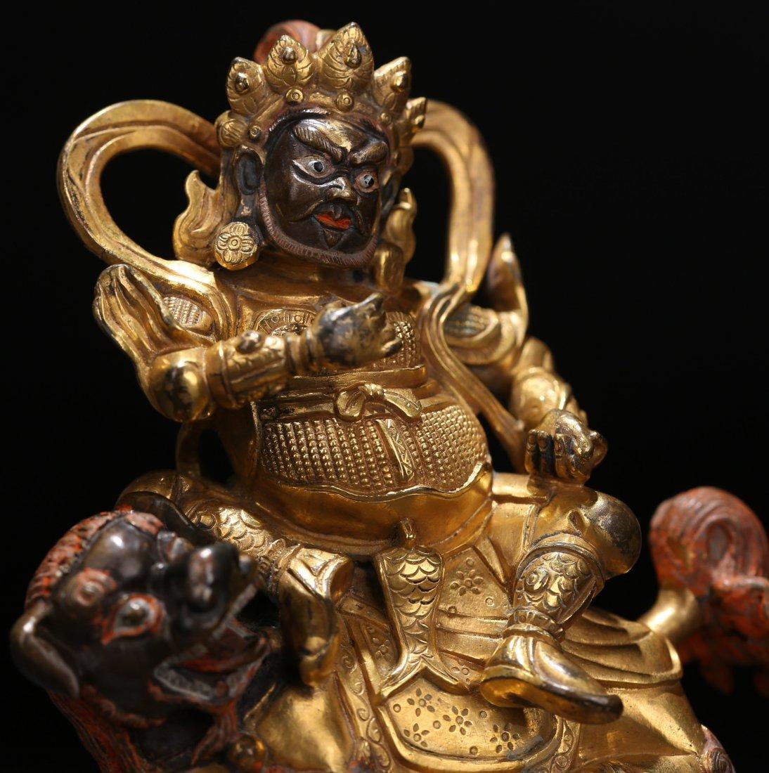 A Parcel-Gilt Bronze Figure, Qing Dynasty - 8