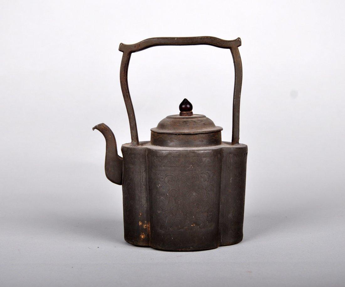 A Tin Hu Vase, Qing Dynasty