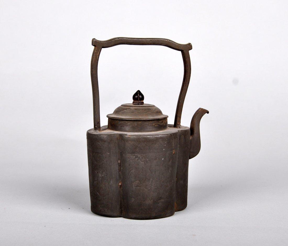 A Tin Hu Vase, Qing Dynasty - 4