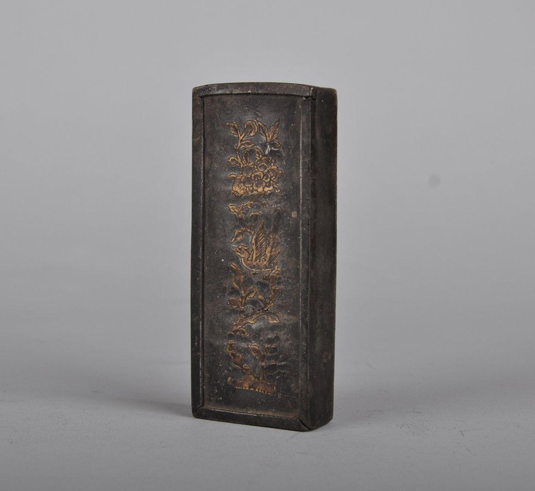 A Copper Inlaid Tin Box, Qing Dynasty - 2