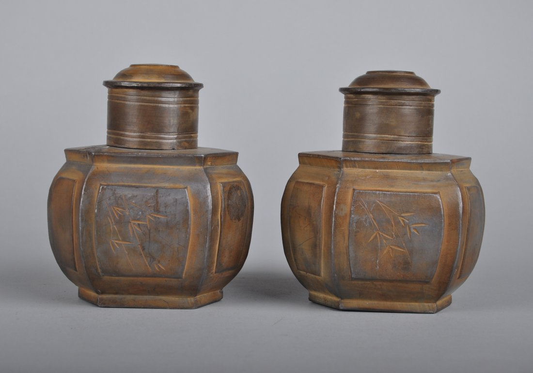 A Pair of Tin Tea Boxes, Qing Dynasty - 2