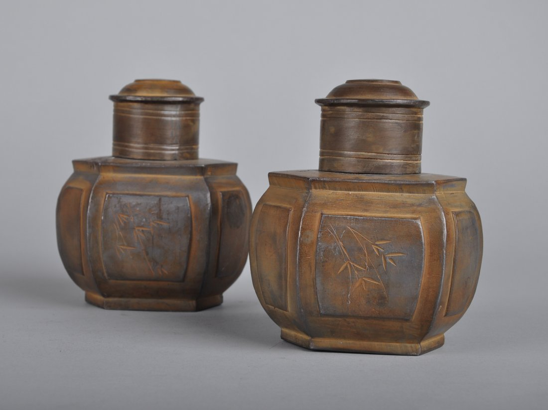 A Pair of Tin Tea Boxes, Qing Dynasty - 3