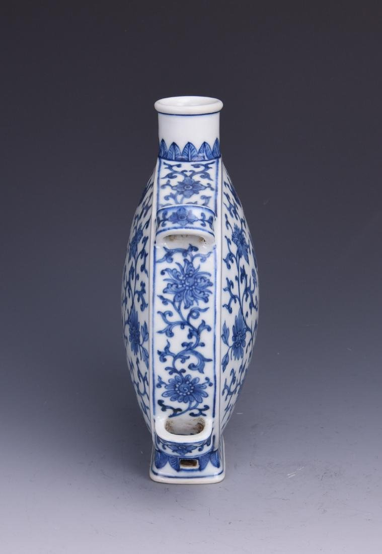 A BLUE AND WHITE MOON FLASK, JIAQING MARK, QING DYNASTY - 7