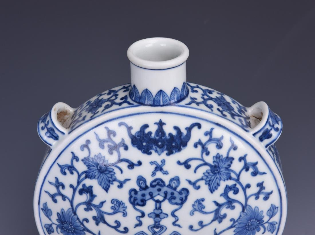 A BLUE AND WHITE MOON FLASK, JIAQING MARK, QING DYNASTY - 8