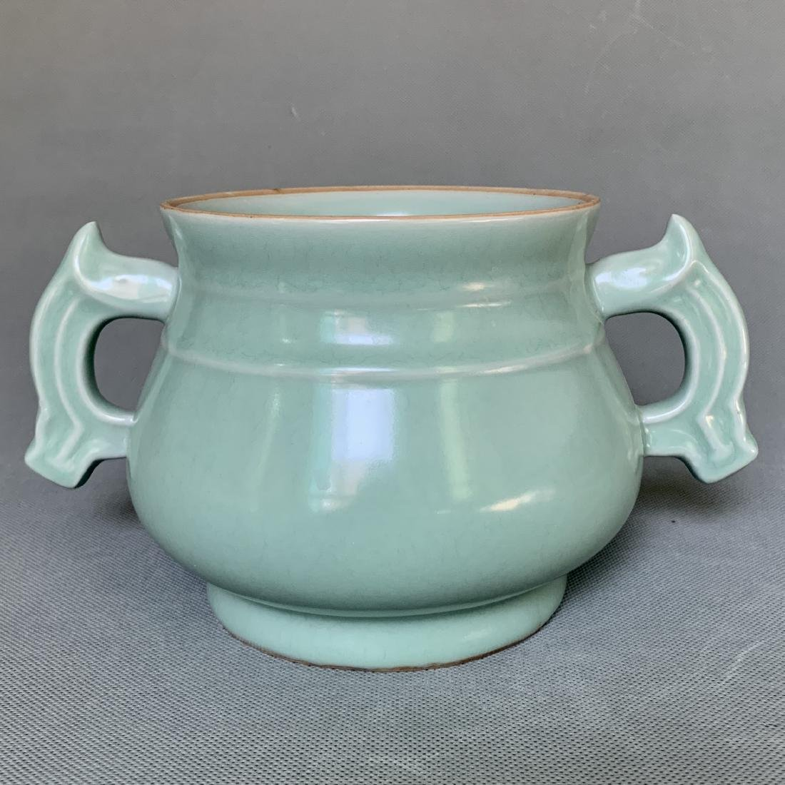A CHINESE LONGQUAN CELADON CENSER, SONG DYNASTY