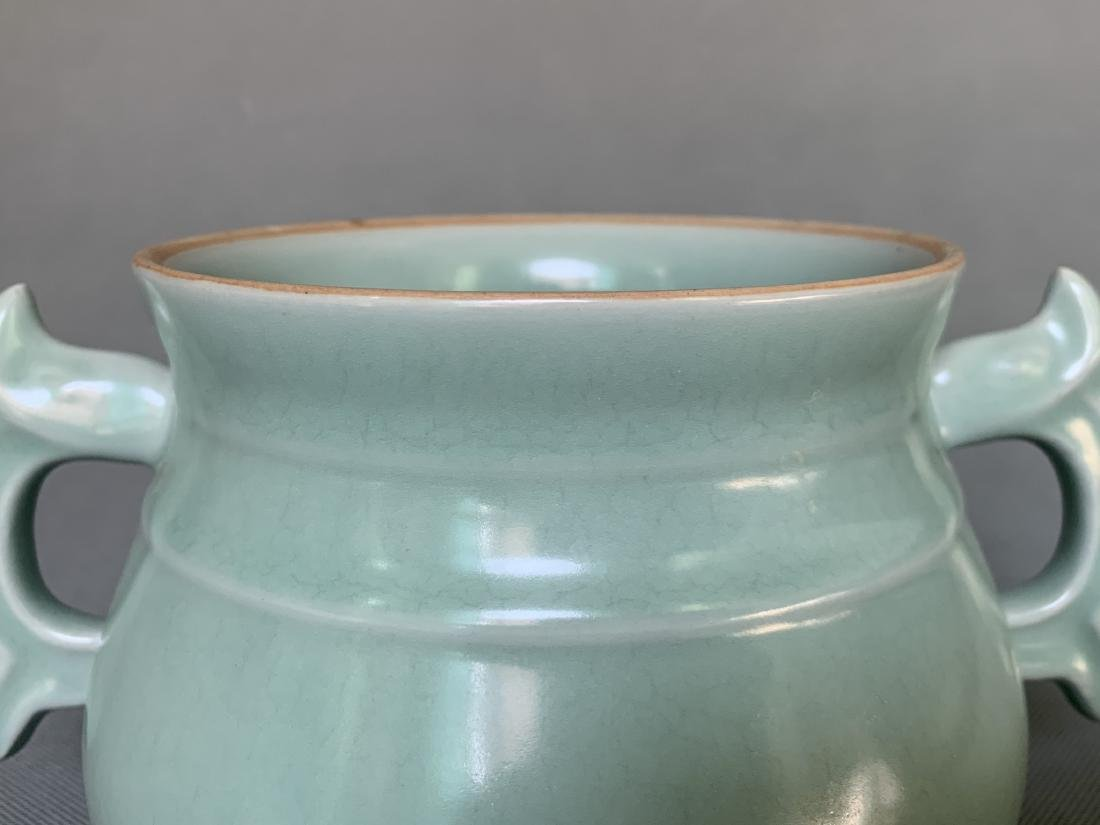 A CHINESE LONGQUAN CELADON CENSER, SONG DYNASTY - 4