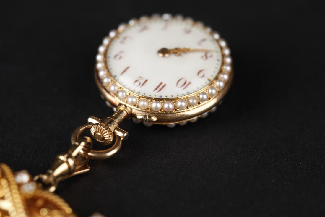 A 18KT GOLD POCKET WATCH, 18T CENTURY - 4