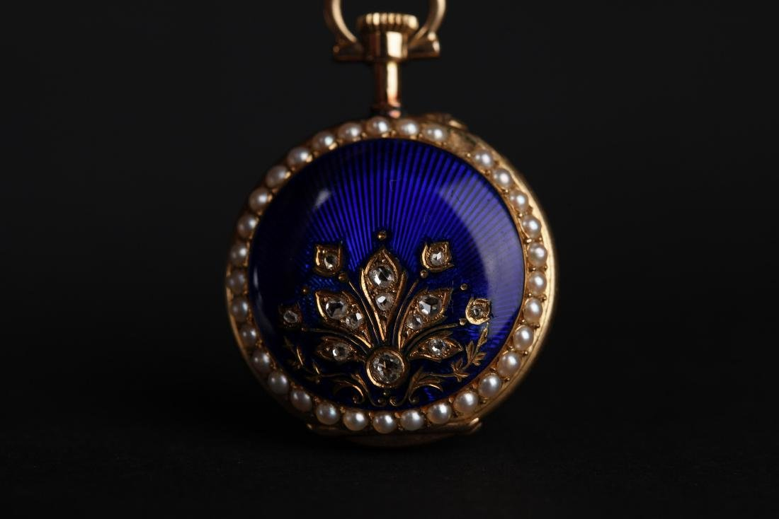 A 18KT GOLD POCKET WATCH, 18T CENTURY - 9