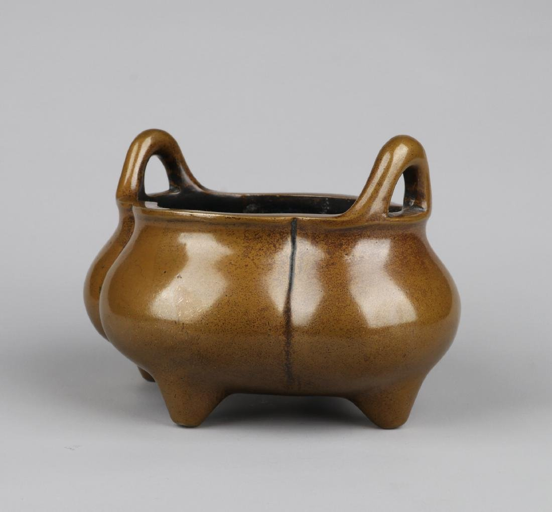 A CHINESE BRONZE CENSER, MING DYNASTY - 3