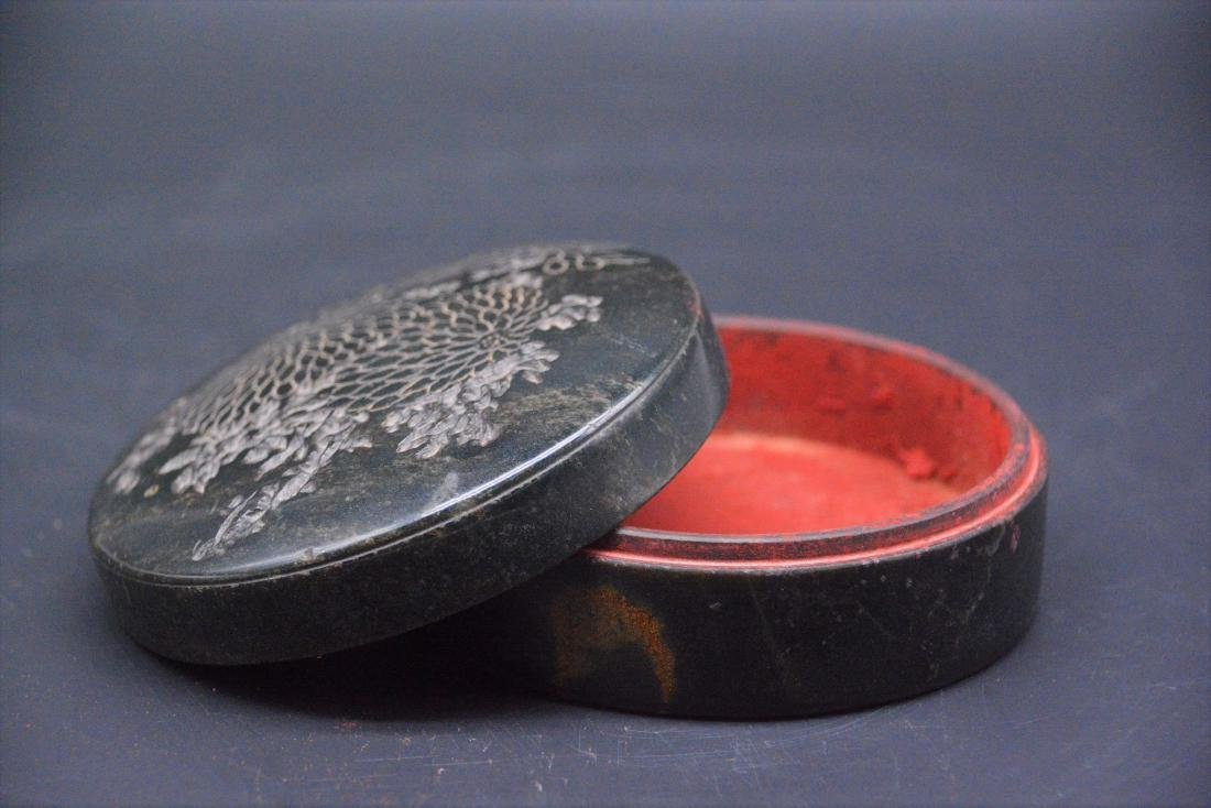 A CHINESE CARVED SOAPSTONE SEAL PAST BOX, QING DYNASTY - 4