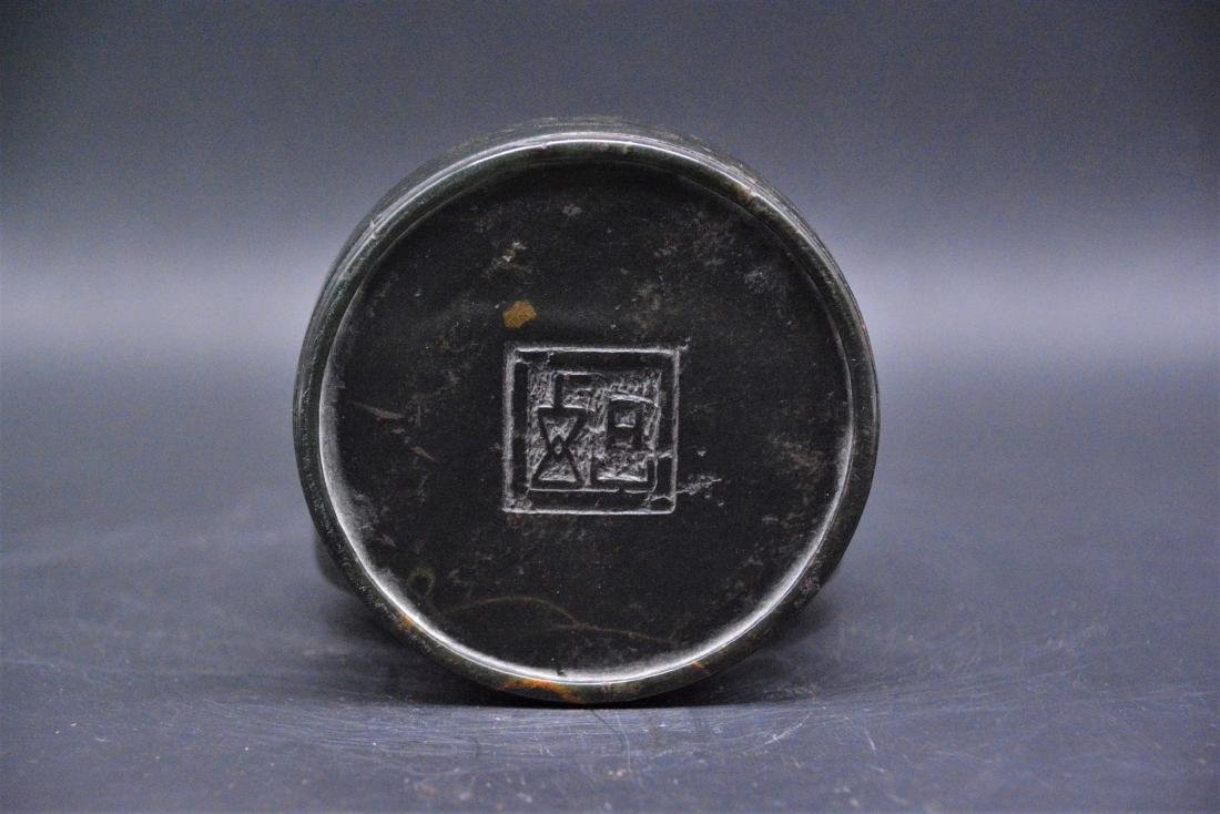 A CHINESE CARVED SOAPSTONE SEAL PAST BOX, QING DYNASTY - 5