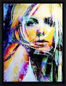 Britney Spears Canvas Art Print - sbs1-bs-leg