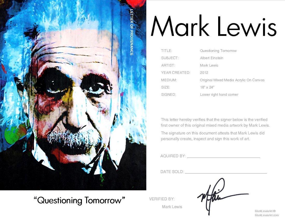 Albert Einstein mixed media original painting - qt - 2