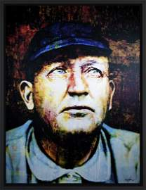 Cy Young original mixed media painting - cc-cy-org