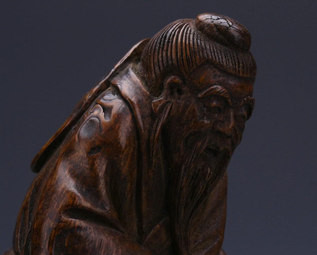Bamboo Sculpture of Fisherman - 7