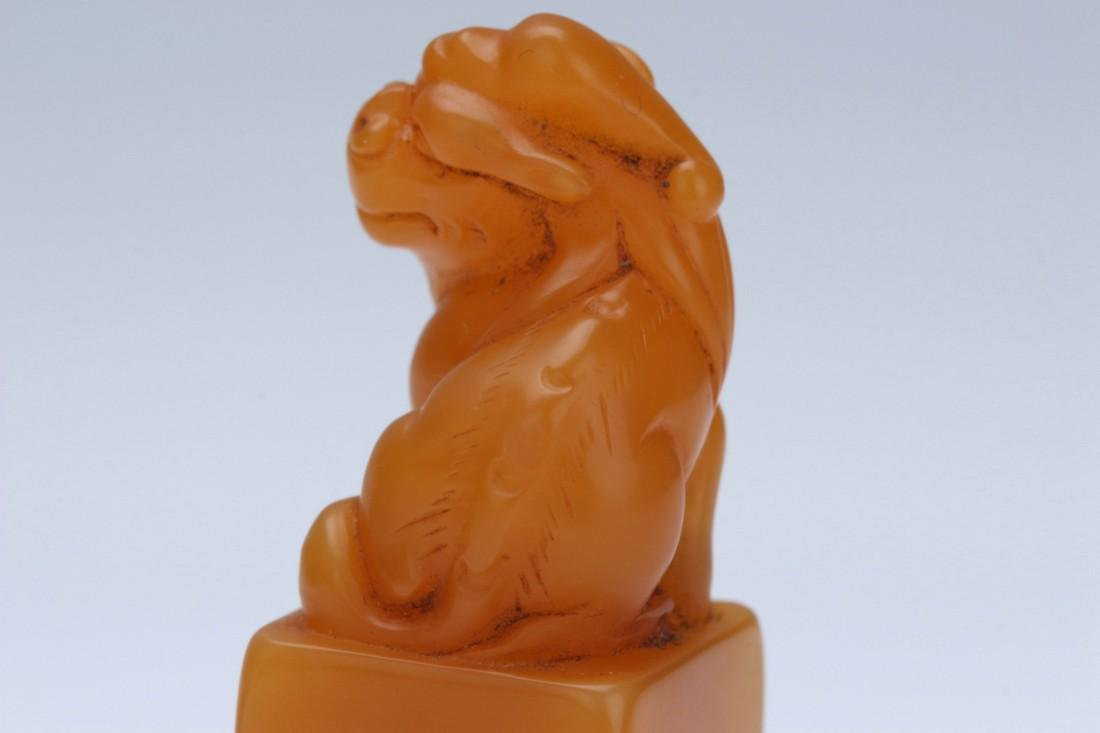 Tianhuang stone lion seal - 7