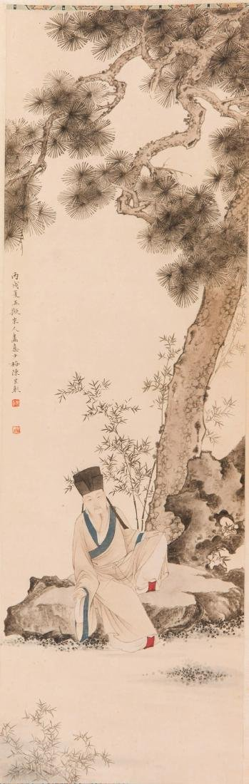 Chen Yunzhang pine tree painting
