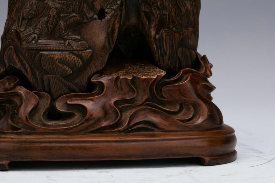 Agilawood sculpture of figure stories - 4