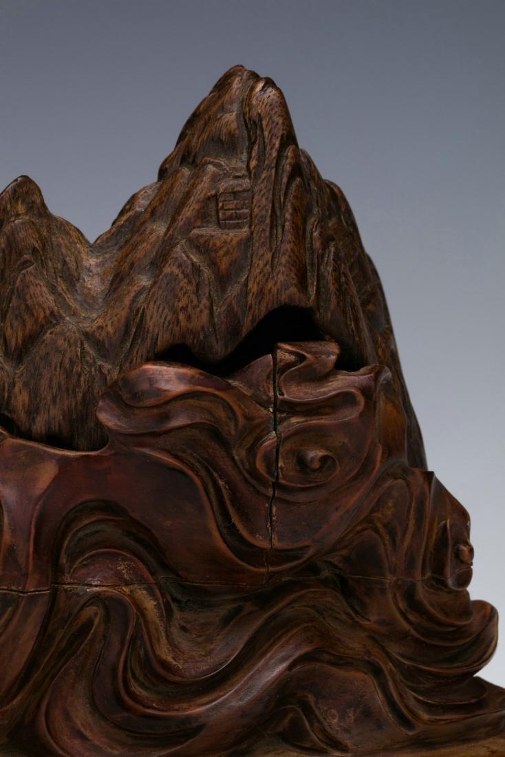 Agilawood sculpture of figure stories - 6