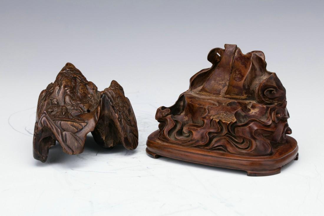 Agilawood sculpture of figure stories - 7